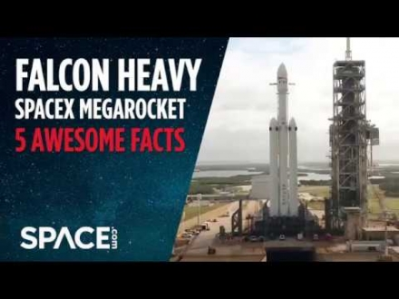Embedded thumbnail for SpaceX's First Falcon Heavy Rocket to Launch 4th Electric Car to Leave Earth